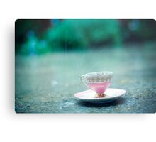 raining on her teacup Metal Print
