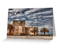 Il castello di Brucoli Greeting Card