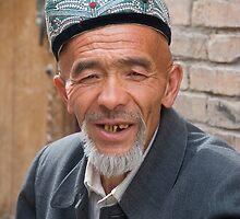 Older Uighur man in Kashgar by Speedy