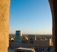 Khiva old city from tower - Uzbekistan by Speedy