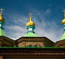 Orthodox church at Karakol - Kyrgyzstan by Speedy