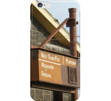 Melbourne Geelong Platform iPhone Case/Skin