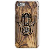 Hamsa Hand - Wood texture iPhone Case/Skin