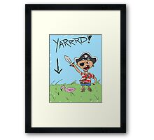 Pirate Lawn Framed Print