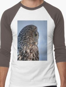 Contemplation - Great Grey Owl Men's Baseball ¾ T-Shirt