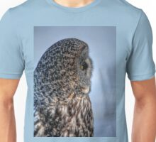 Contemplation - Great Grey Owl Unisex T-Shirt