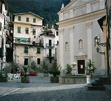 Airole, Ligura, Italy, the piazza by BronReid