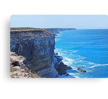 Bunda Cliffs, The Great Australian Bight, South Australia Canvas Print