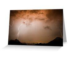 Colorful Lightning Dome Greeting Card