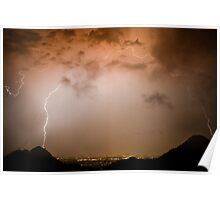 Colorful Lightning Dome Poster