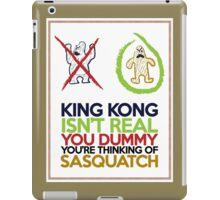 King Kong vs Sasquatch iPad Case/Skin