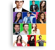 Teen Wolf Cast Boxes Canvas Print