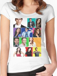 Teen Wolf Cast Boxes Women's Fitted Scoop T-Shirt