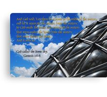 God called the dome sky Canvas Print