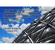 God called the dome sky Photographic Print