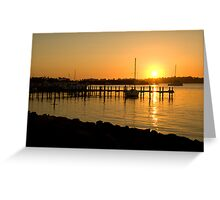 Raymond Island sunset Greeting Card