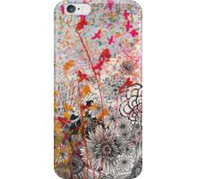Pink Chickadees in the Garden iPhone Case/Skin