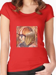 Colorful lady Women's Fitted Scoop T-Shirt