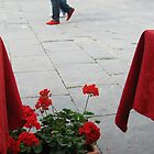 shoes, flowers & tablecloths....Piazza della Repubblica by Rowland Jones