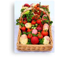 Basket of Vegetables Canvas Print