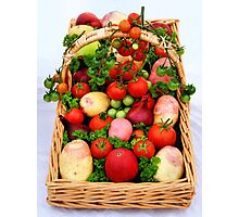 Basket of Vegetables Photographic Print
