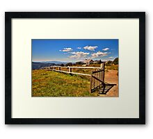 Open Gate - Craigs Hut , Mount Sterling - The HDR Experience Framed Print