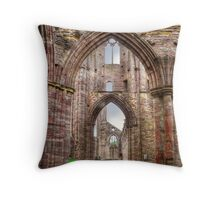 Tintern Abbey Interior View IV Throw Pillow
