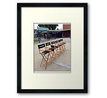 Teen Wolf Set Chairs Framed Print