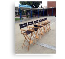 Teen Wolf Set Chairs Canvas Print