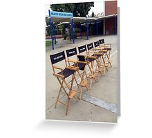 Teen Wolf Set Chairs Greeting Card