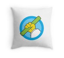 In Rod We Trust Throw Pillow