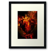 Heart of Fire Framed Print