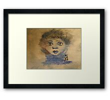 Childs Face Framed Print