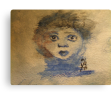Childs Face Canvas Print