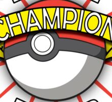 Elite Four Champion Sticker
