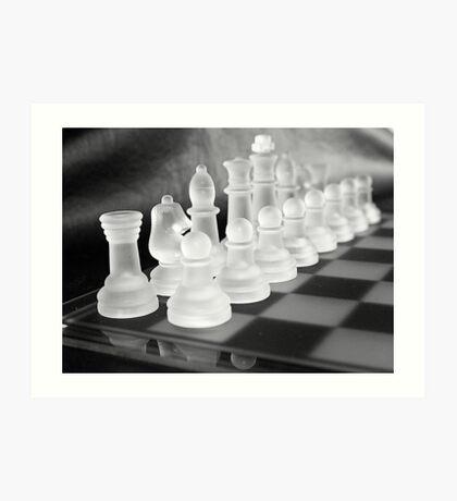 Chess in Black&White Art Print