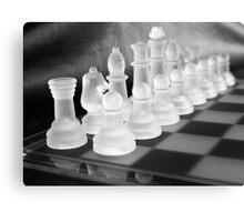Chess in Black&White Canvas Print