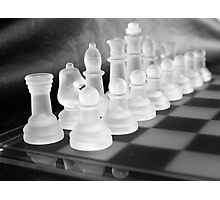 Chess in Black&White Photographic Print