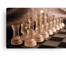 Chess with Temperature Contrast Canvas Print