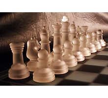 Chess with Temperature Contrast Photographic Print