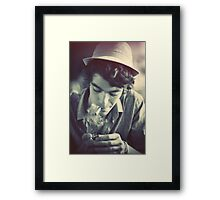 The Boy with a hat Framed Print