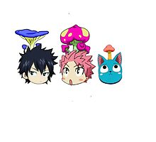 Fairy Tail Mushroom Heads by sherillicious