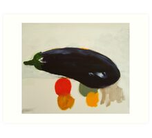 eggplant , lemon and tomato 2 - study Art Print
