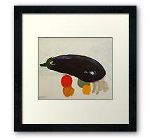 eggplant , lemon and tomato 2 - study Framed Print