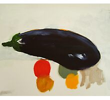 eggplant , lemon and tomato 2 - study Photographic Print