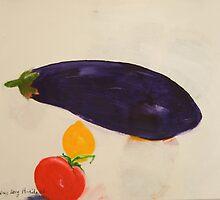 eggplant,tomato and lemon 3 - study by frederic levy-hadida