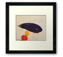 eggplant,tomato and lemon 3 - study Framed Print