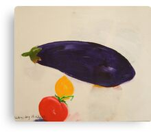 eggplant,tomato and lemon 3 - study Canvas Print