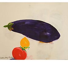 eggplant,tomato and lemon 3 - study Photographic Print