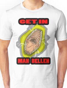 Get In Mah Belleh Yellow Unisex T-Shirt